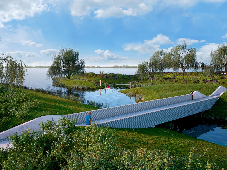 Nieuw park bij het Woldmeer; kunst en landschap trekken samen op