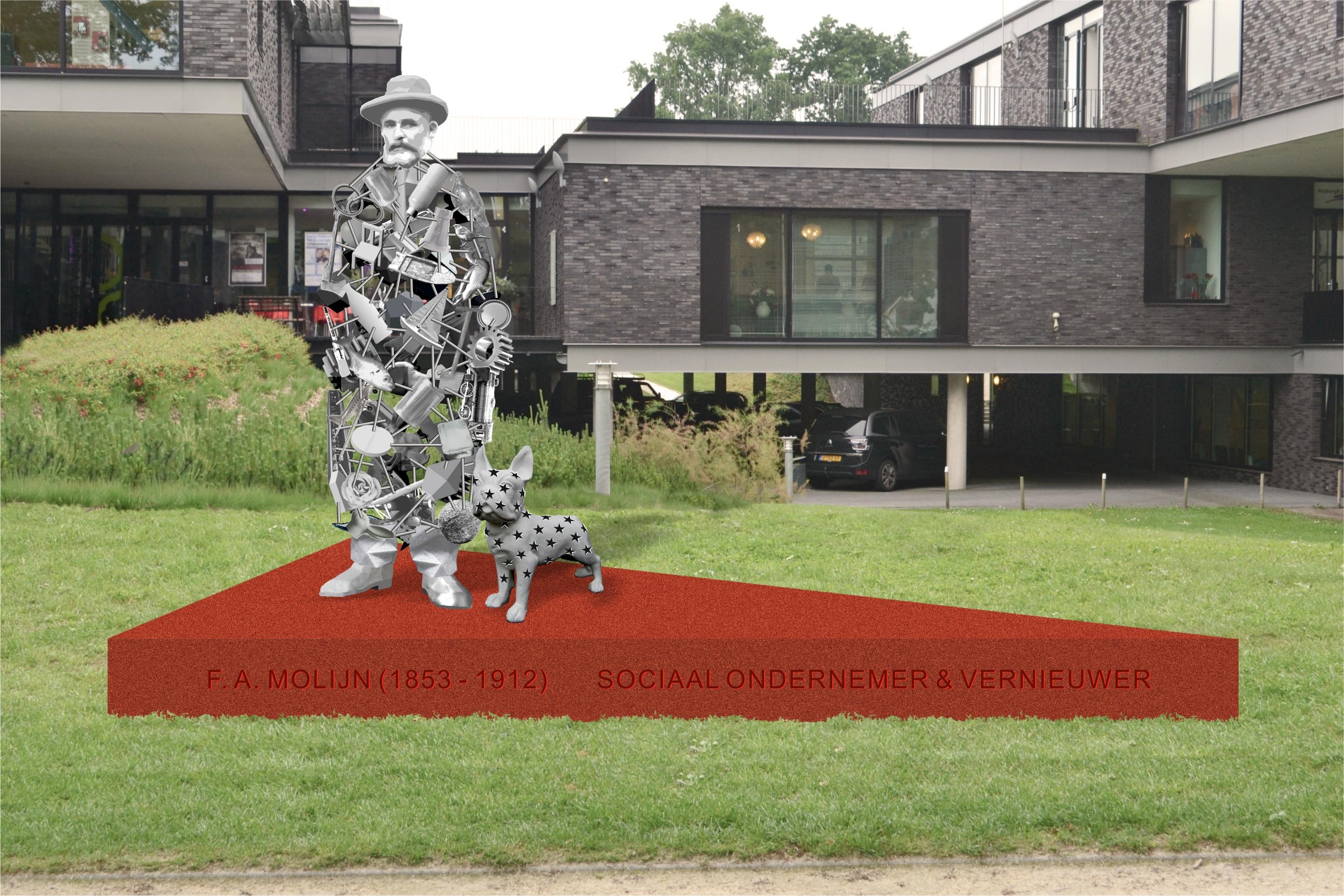 Ontwerp gekozen voor beeld ter ere van F.A. Molijn in Nunspeet