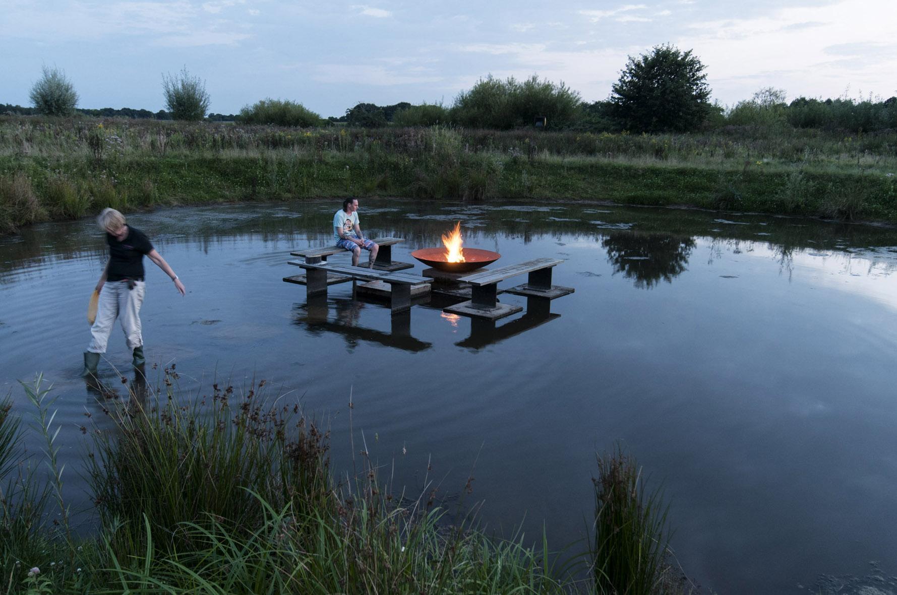 Nederland, Hardenberg, 26-8-2016 Vechtpark Foto: Ton van Vliet/Terborg